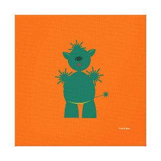 Martzkins en lona marciana del mascota del espacio impresiones de lienzo