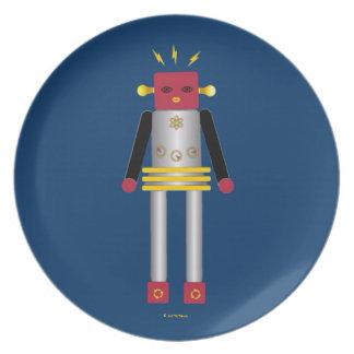 Martzkins en placa de la melamina del espacio exte plato
