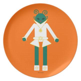 Martzkins en placa de la melamina del espacio exte plato de cena