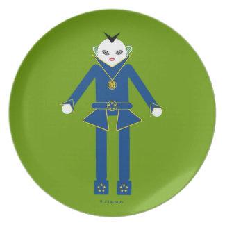 Martzkins en placa de la melamina del espacio exte plato de comida