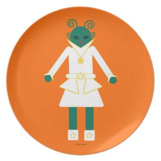 Martzkins en placa de la melamina del espacio exte platos