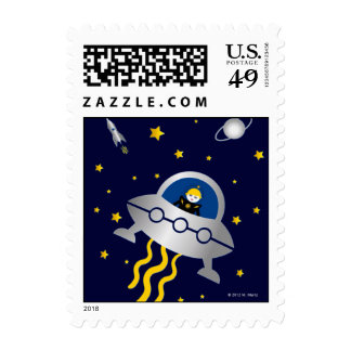 Martzkins In Outer Space Postage © 2012 M. Martz