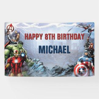 Marvel Avengers Birthday Banner