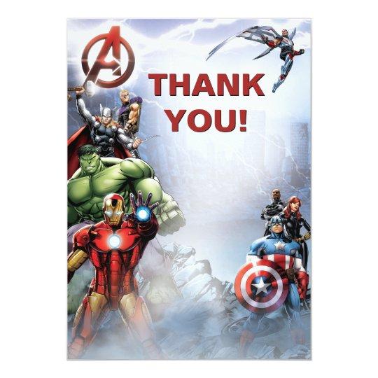 Avengers Birthday Card Template Vatozozdevelopment