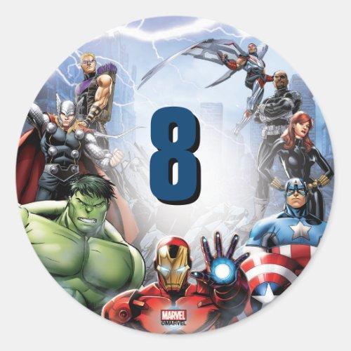 Marvel  Avengers _ Birthday Classic Round Sticker