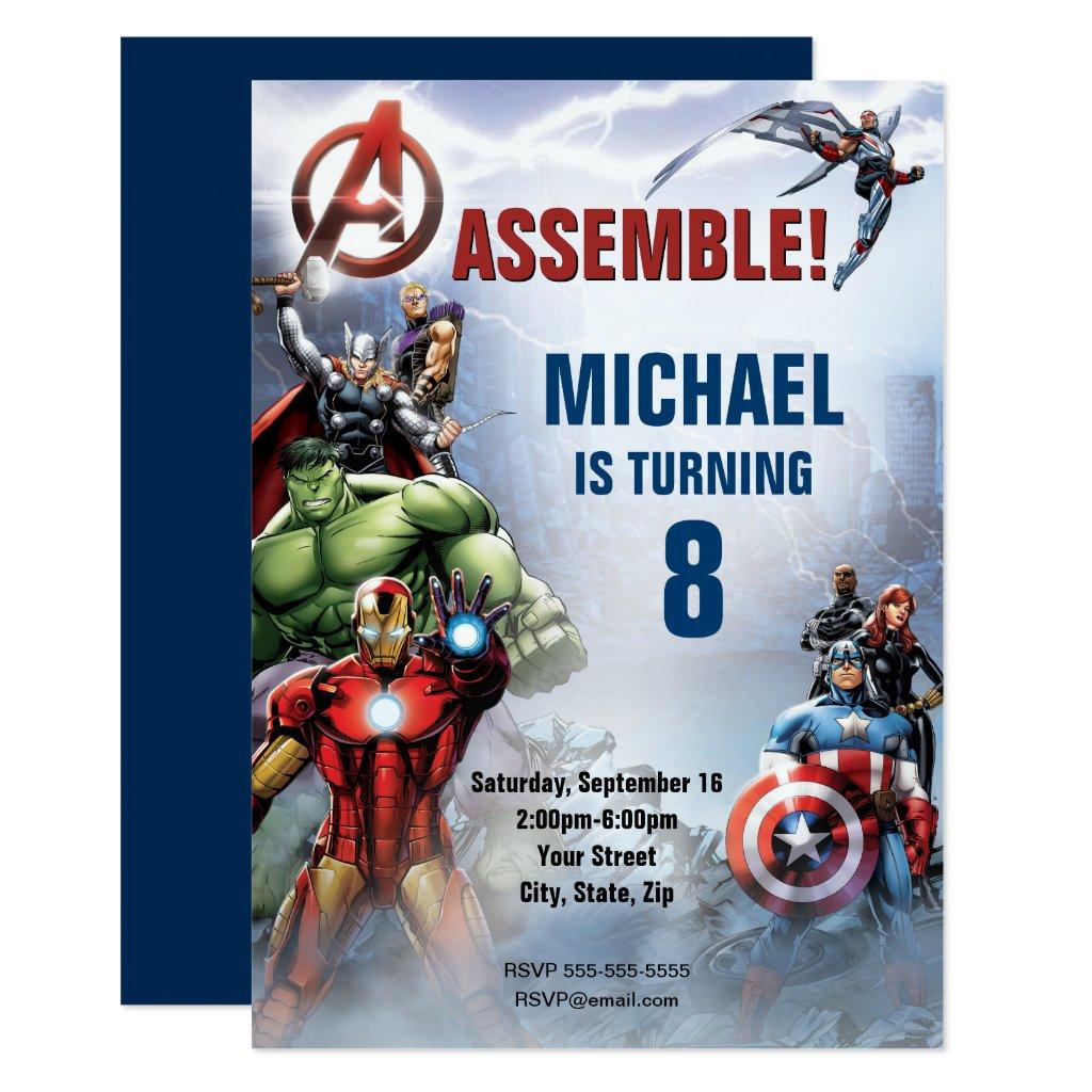 Marvel | Avengers - Birthday Invitation