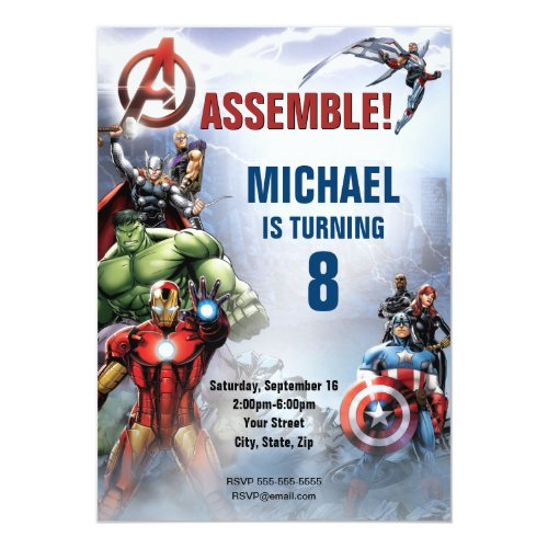 Marvel  Avengers _ Birthday Invitation