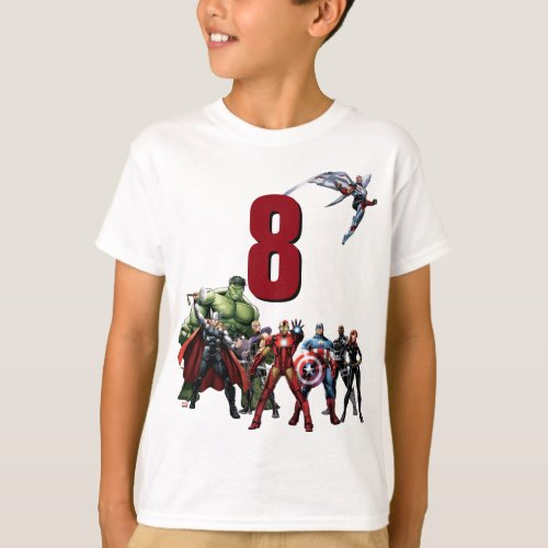 Marvel  Avengers _ Birthday T_Shirt