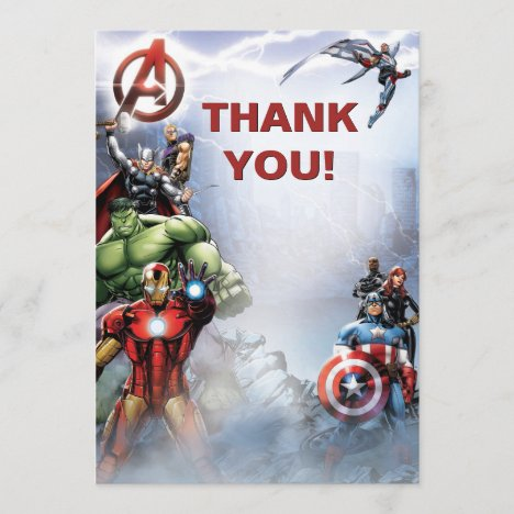Marvel | Avengers - Birthday Thank You Card