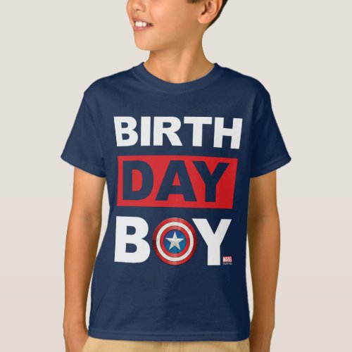 Marvel  Captain America _ Birthday T_Shirt