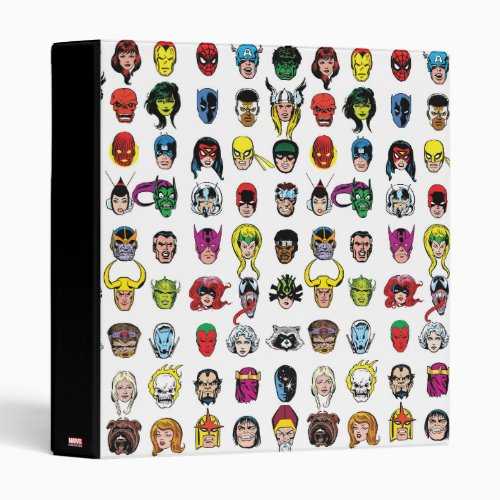 Marvel Comic Characters Pattern 3 Ring Binder