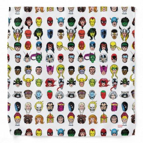 Marvel Comic Characters Pattern Bandana