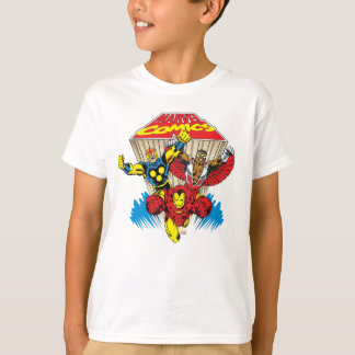 Marvel Comics Flying Super Heroes T-Shirt