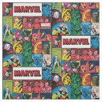 Marvel Comics Hero Collage Fabric