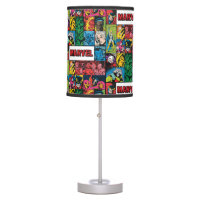 Marvel Comics Hero Collage Table Lamp
