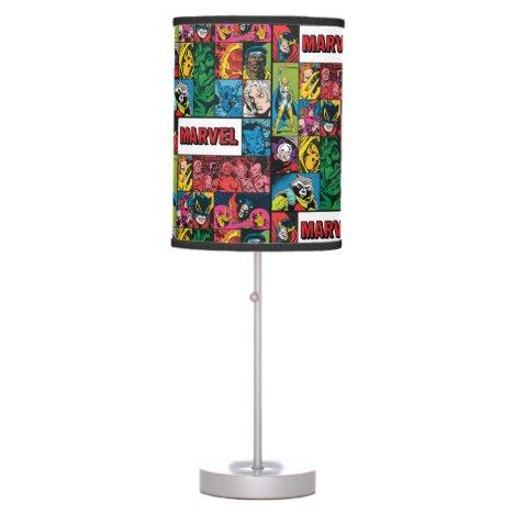 Marvel Comics Hero Collage Table Lamp