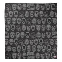 Marvel Comics Hero Head Pattern Bandana