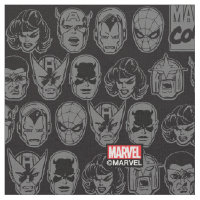 Marvel Comics Hero Head Pattern Fabric