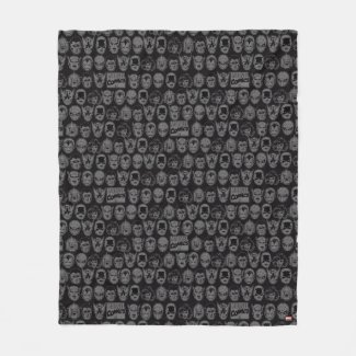 Marvel Comics Hero Head Pattern Fleece Blanket