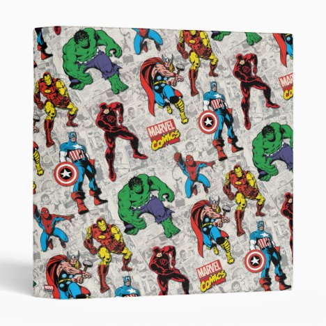 Marvel Comics Heroes Pattern 3 Ring Binder