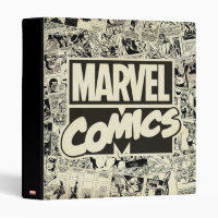 Marvel Comics Pages Pattern 3 Ring Binder
