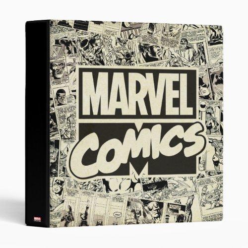 Marvel Comics Pages Pattern 3 Ring Binder