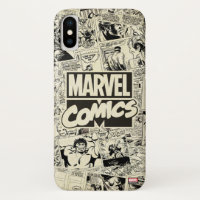 Marvel Comics Pages Pattern iPhone X Case