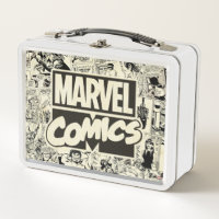 Marvel Comics Pages Pattern Metal Lunch Box
