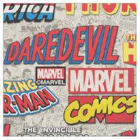 Marvel Comics Titles Pattern Fabric