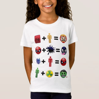 Marvel Emoji Character Equations T-Shirt