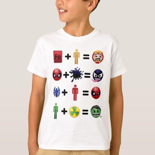 Marvel Emoji Character Equations T_Shirt
