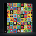 """Marvel Emoji Characters Grid Pattern 3 Ring Binder<br><div class=""""desc"""">Marvel Emoji 