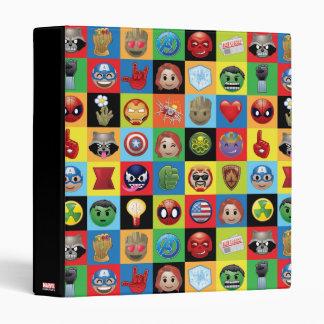 Marvel Emoji Characters Grid Pattern 3 Ring Binder