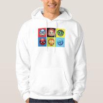 Marvel Emoji Characters Grid Pattern Hoodie