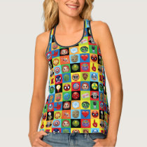 Marvel Emoji Characters Grid Pattern Tank Top