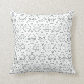Marvel Emoji Characters Outline Pattern Throw Pillow