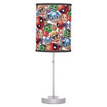Marvel Emoji Characters Toss Pattern Desk Lamp