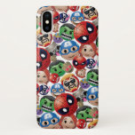 Marvel Emoji Characters Toss Pattern iPhone X Case