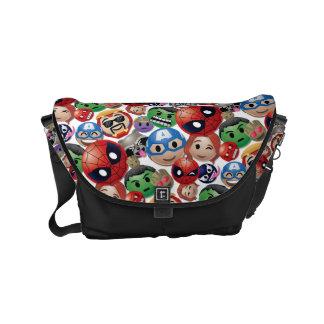 Marvel Emoji Characters Toss Pattern Small Messenger Bag