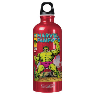 Marvel Fanfare Hulk Comic #29 Aluminum Water Bottle