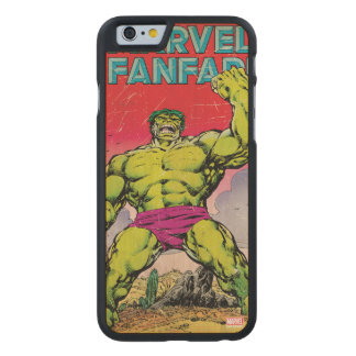 Marvel Fanfare Hulk Comic #29 Carved Maple iPhone 6 Case