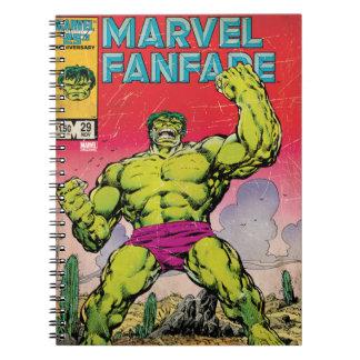 Marvel Fanfare Hulk Comic #29 Spiral Notebook