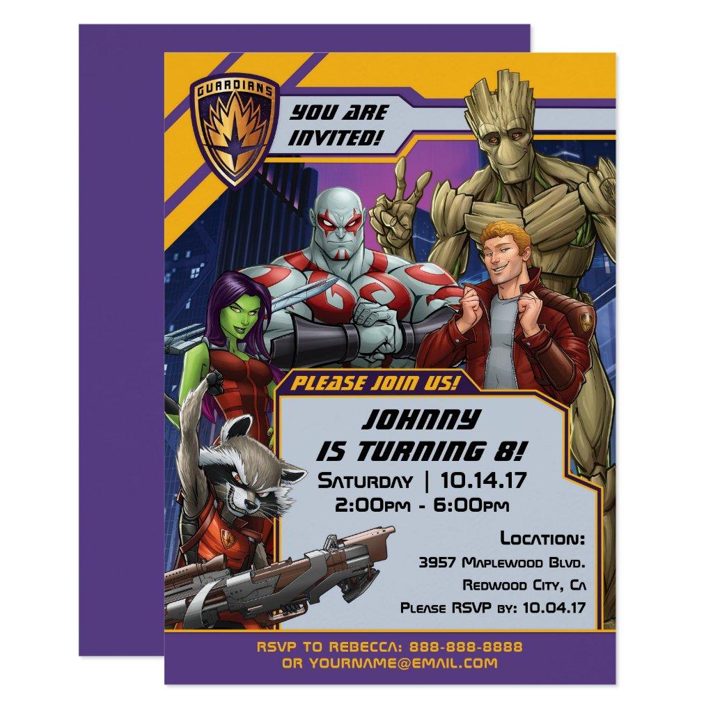 Marvel | Guardians of the Galaxy - Birthday Invitation