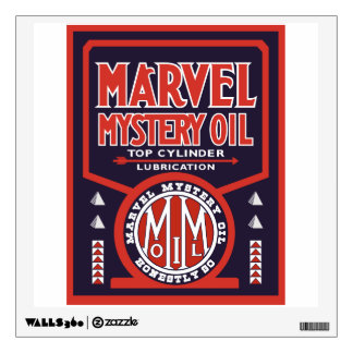 Marvel Mystery Oil vintage sign. Flat version Room Sticker