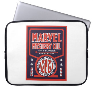 Marvel Mystery Oil vintage sign reproduction Laptop Sleeve