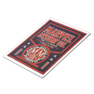 Marvel Mystery Oil vintage sign rusted notepad