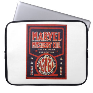 Marvel Mystery Oil vintage sign rusted version Laptop Sleeves