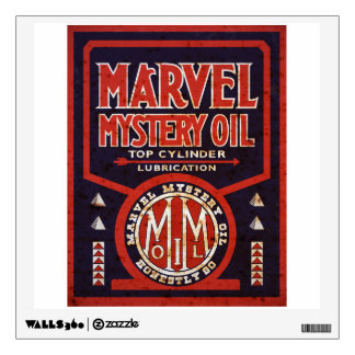 Marvel Mystery Oil vintage sign rusted version Wall Sticker