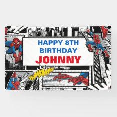Marvel | Spiderman - Birthday Banner at Zazzle