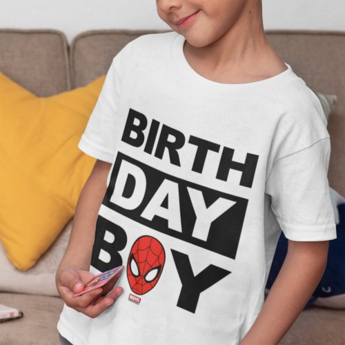 Marvel  Spiderman _ Birthday Boy T_Shirt
